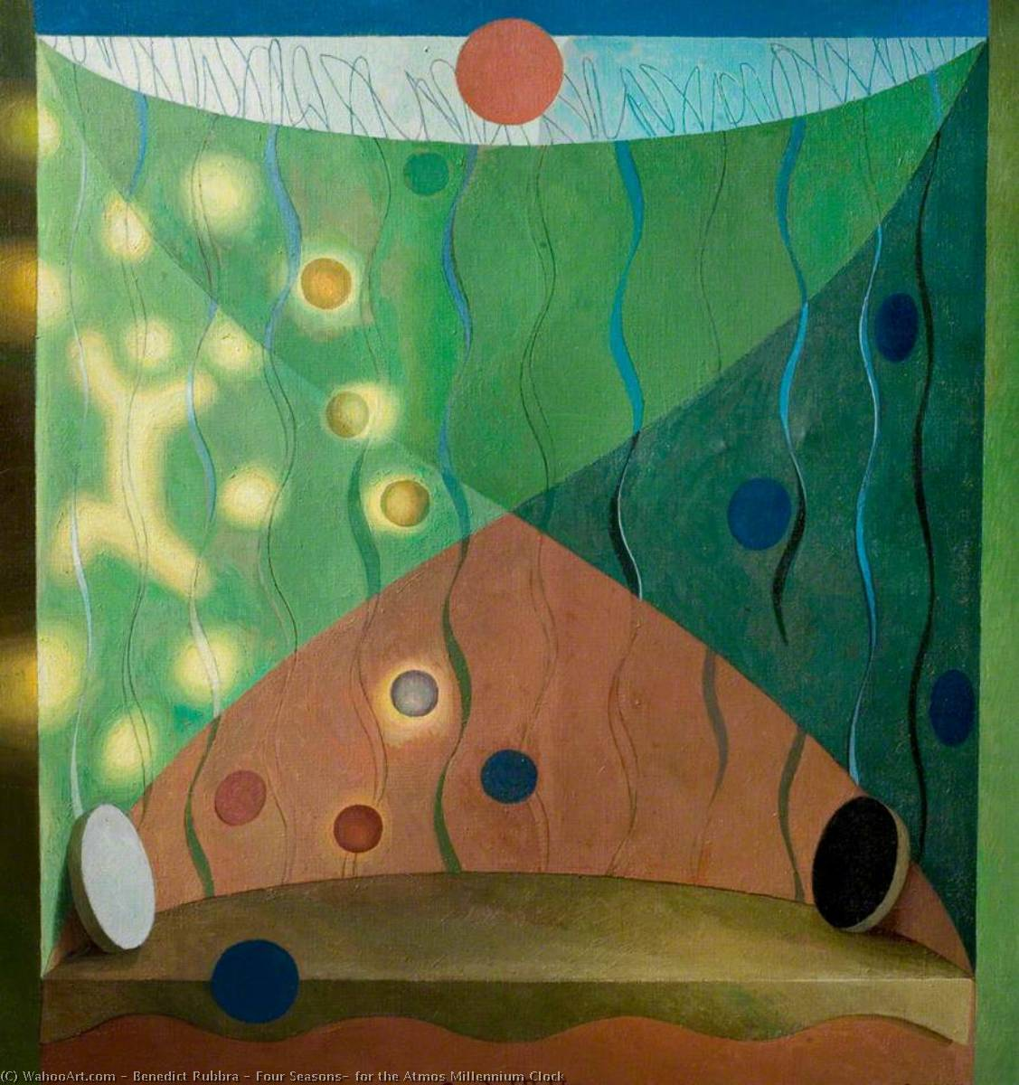 Four Seasons, for the Atmos Millennium Clock, Oil On Canvas by Benedict Rubbra