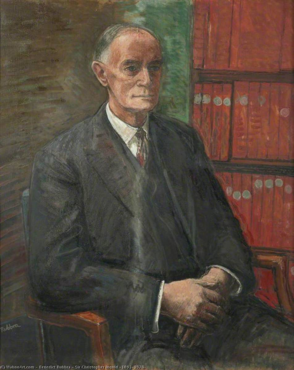 Sir Christopher Ingold (1893–1970), Oil On Canvas by Benedict Rubbra