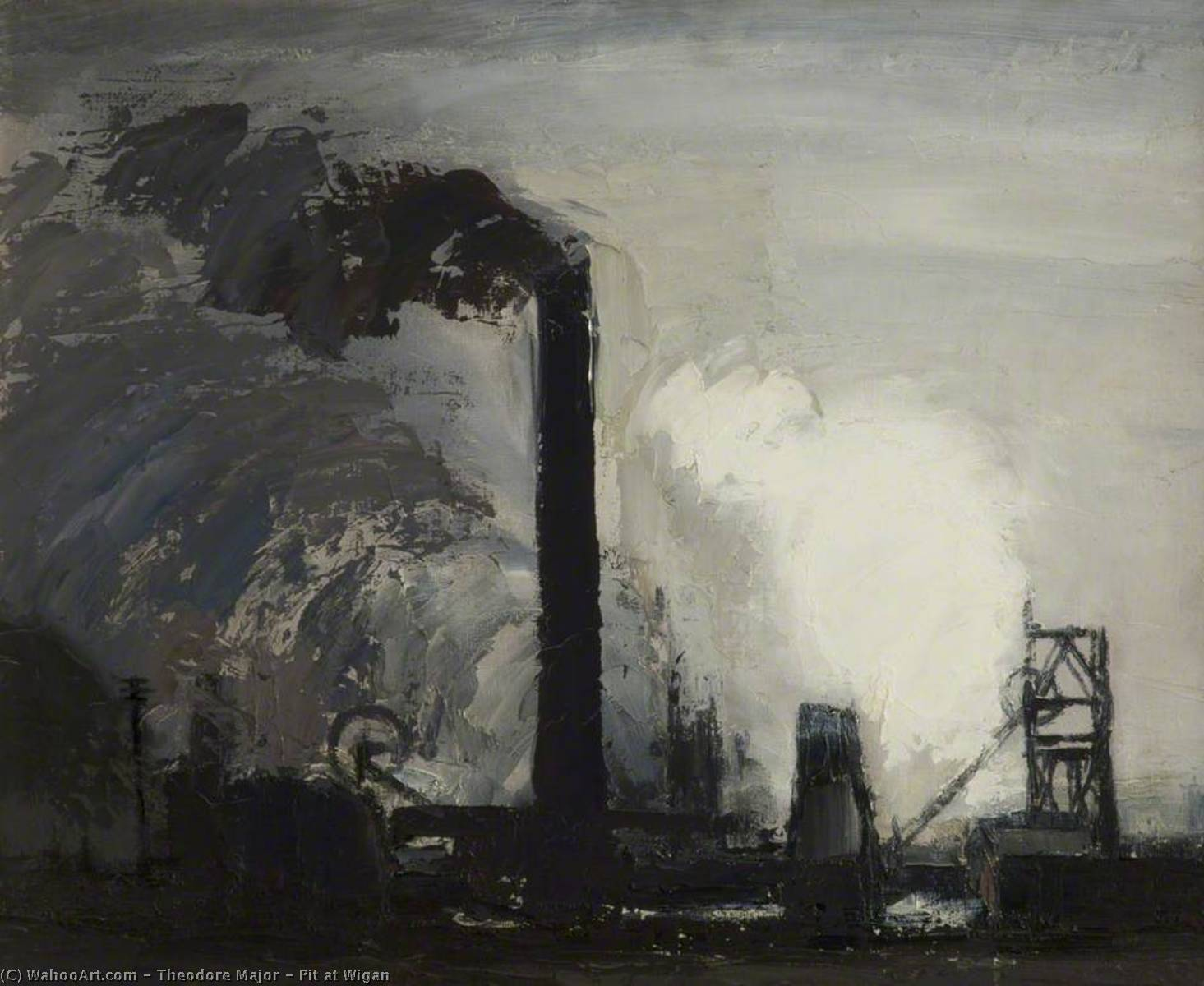Pit at Wigan, Oil On Canvas by Theodore Major