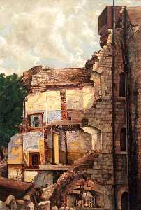 Alistair Ninian Stewart - Bomb Damage, North Bastion (Tower of London)