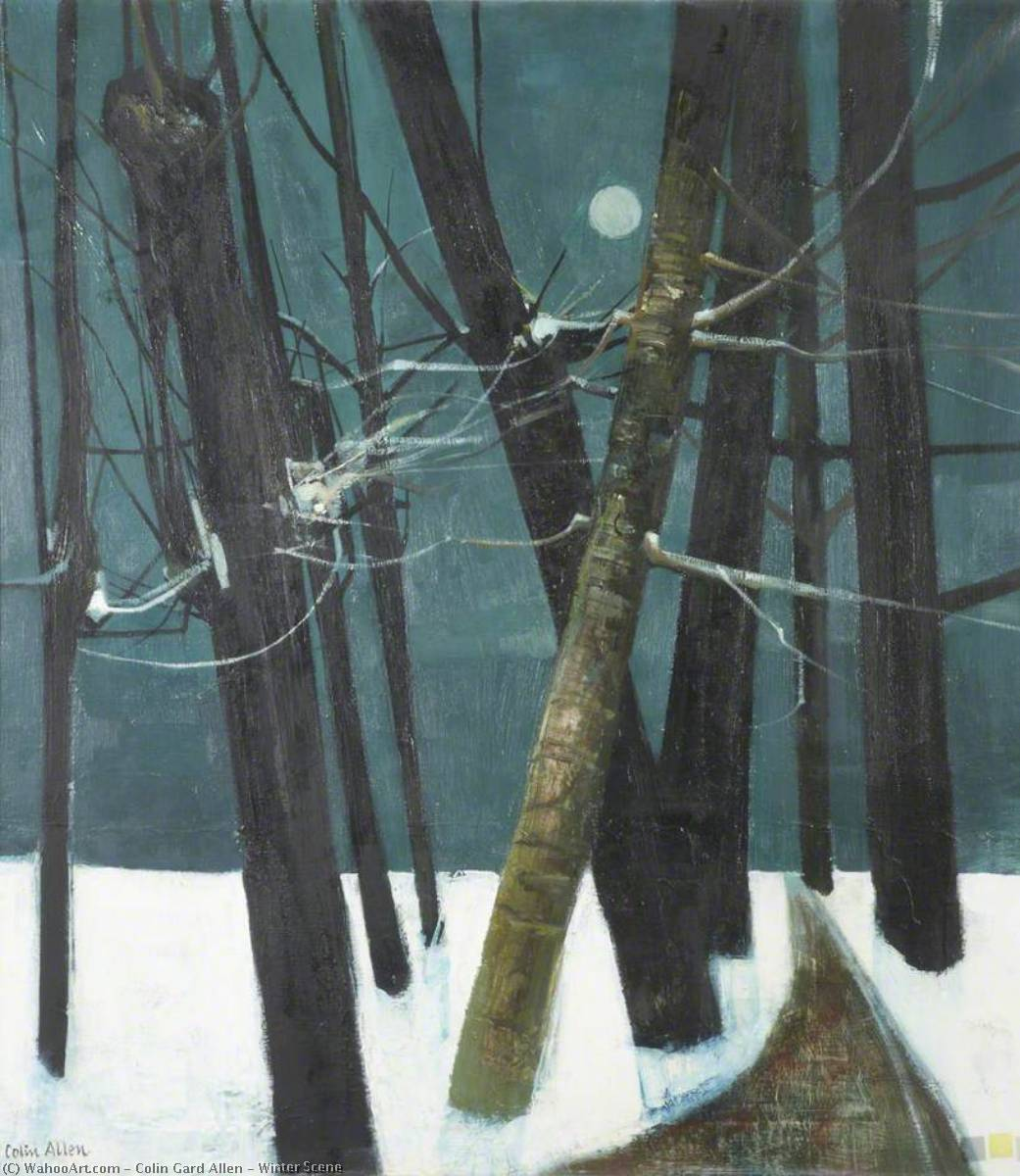 Winter Scene by Colin Gard Allen | Famous Paintings Reproductions | WahooArt.com