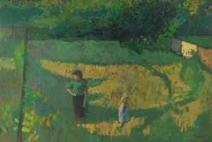 Order Oil Painting : Kentish Garden, 1954 by Colin Graham Frederick Hayes | WahooArt.com