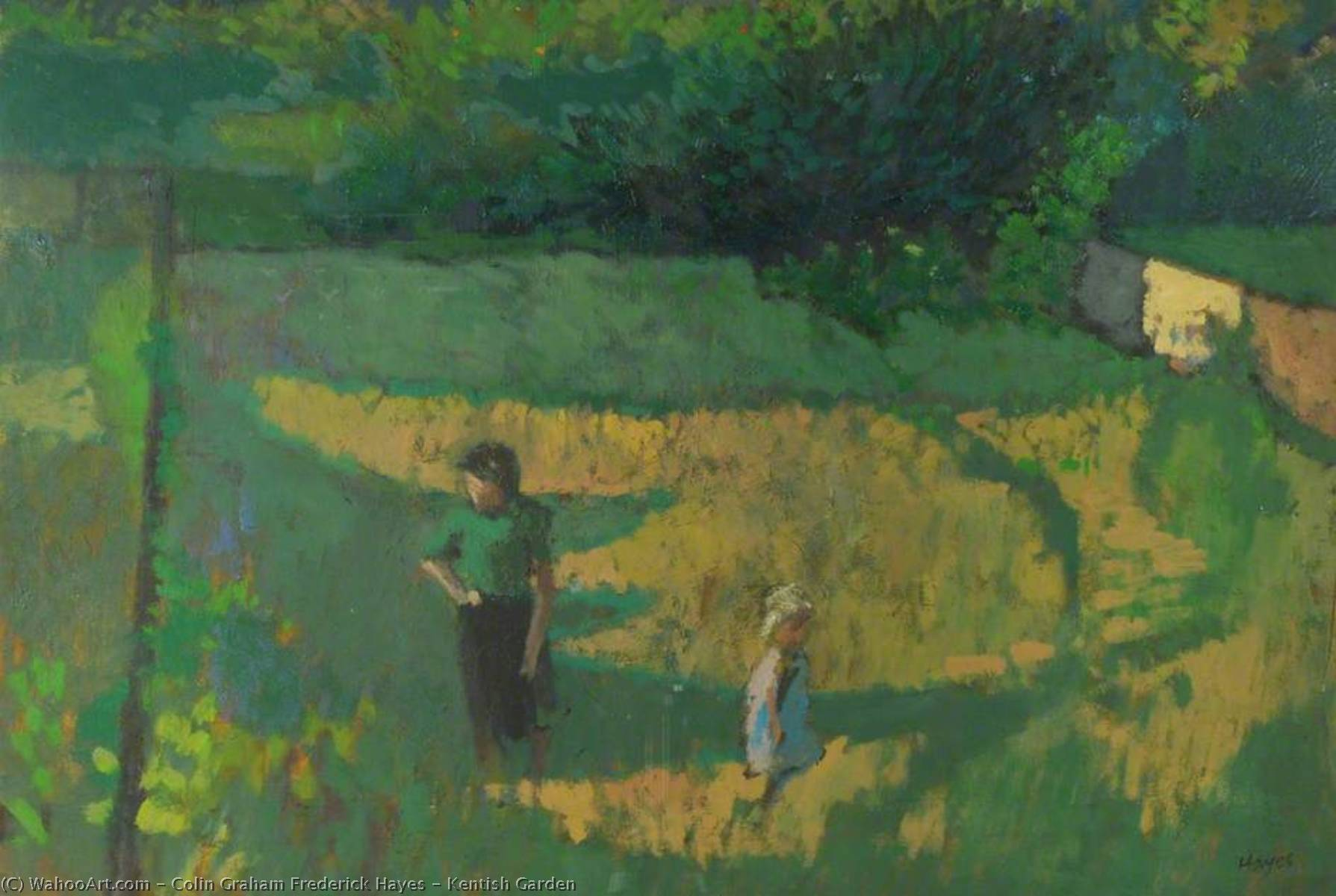 Kentish Garden, 1954 by Colin Graham Frederick Hayes | Oil Painting | WahooArt.com