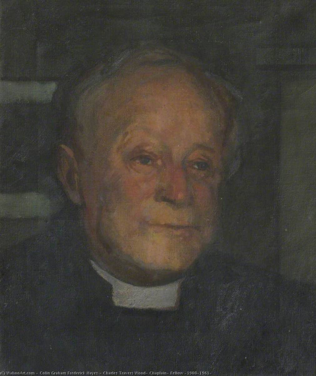 Charles Travers Wood, Chaplain, Fellow (1900–1961) by Colin Graham Frederick Hayes | Oil Painting | WahooArt.com