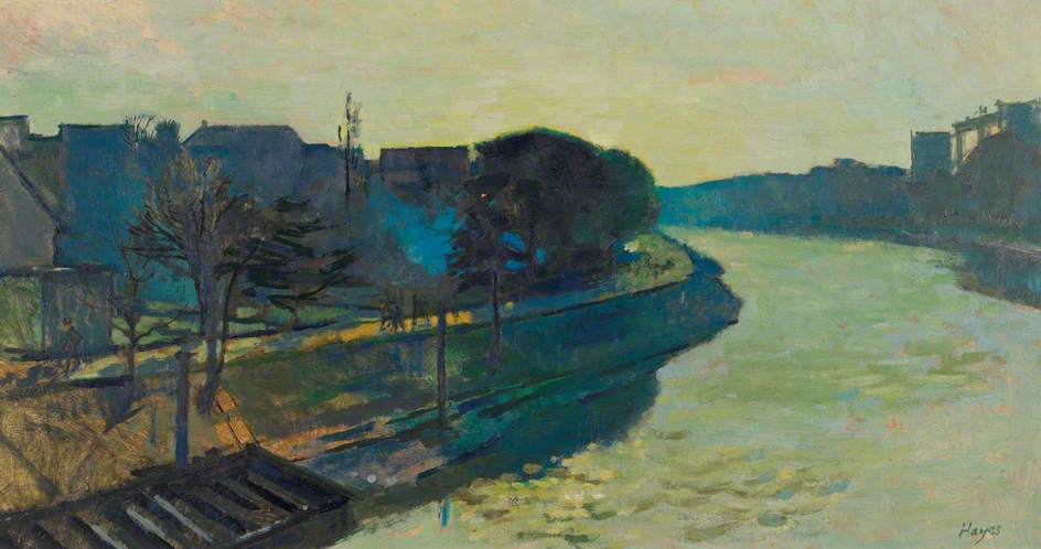 The Thames at Kew, Oil by Colin Graham Frederick Hayes
