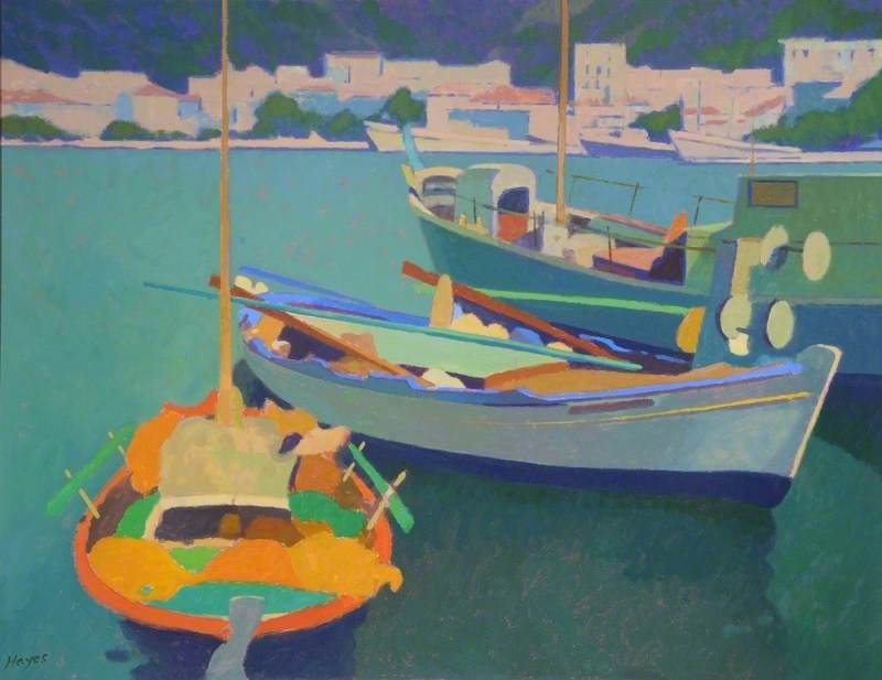 Samos, Greece, Acrylic On Canvas by Colin Graham Frederick Hayes