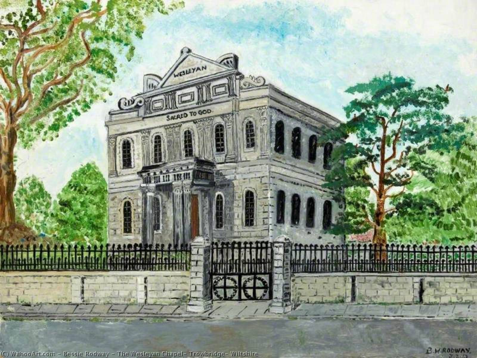 The Wesleyan Chapel, Trowbridge, Wiltshire by Bessie Rodway | Art Reproductions Bessie Rodway | WahooArt.com