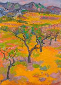 Frederick John Pym Gore - Landscape in Provence