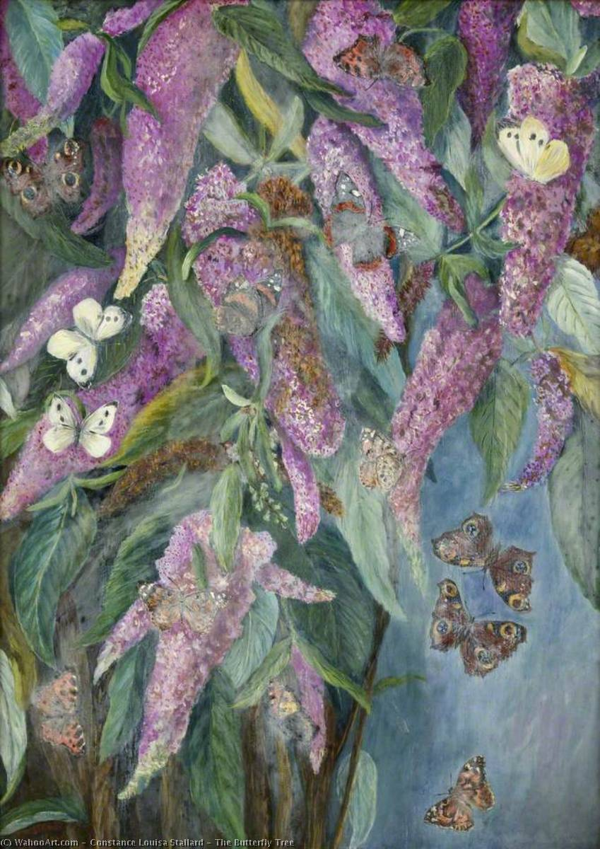The Butterfly Tree by Constance Louisa Stallard | Art Reproductions Constance Louisa Stallard | WahooArt.com