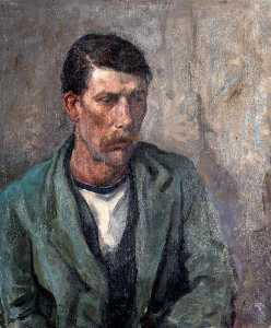 Sydney Elmer Schofield - A St Ives Fisherman (from a set of six portraits)