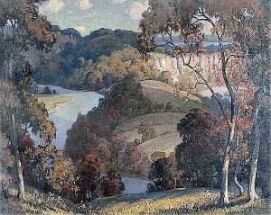 Leonard W Pike - Autumn in the Wye Valley