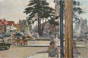 James Kenneth Howard - Townscape with Trees