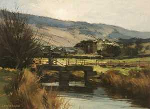 John Mccombs - Fletcher's Mill from Tanner's Dam, Greenfield, Saddleworth, Yorkshire