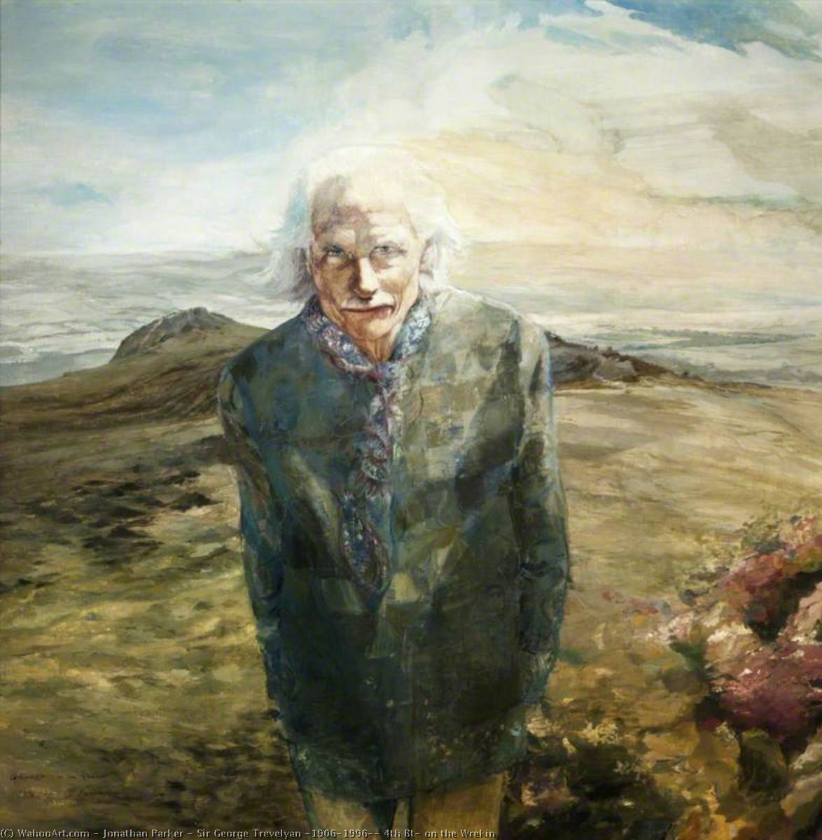 Sir George Trevelyan (1906–1996), 4th Bt, on the Wrekin, 1997 by Jonathan Parker | Museum Quality Reproductions | WahooArt.com