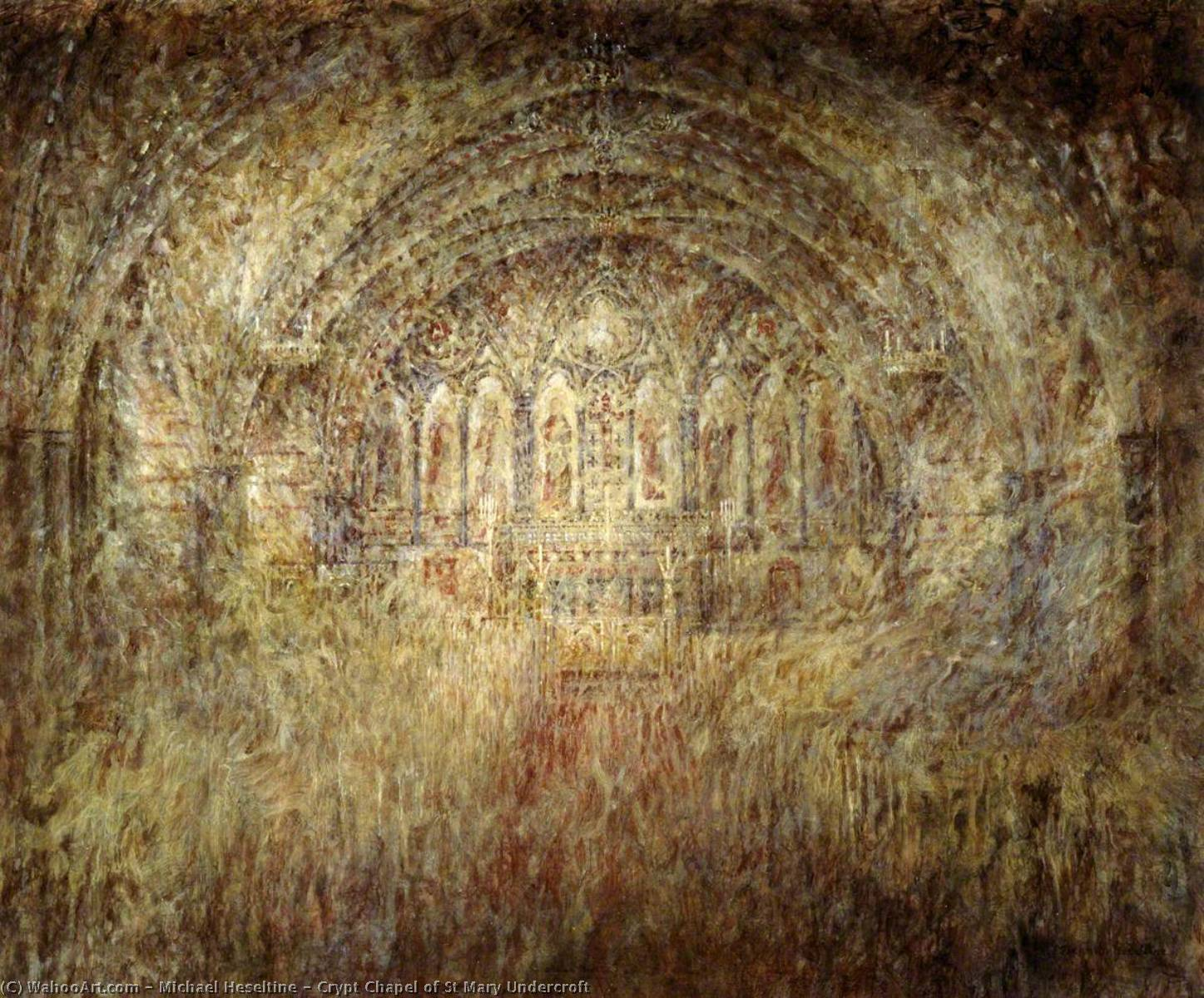 Crypt Chapel of St Mary Undercroft, 1997 by Michael Heseltine | Art Reproductions Michael Heseltine | WahooArt.com