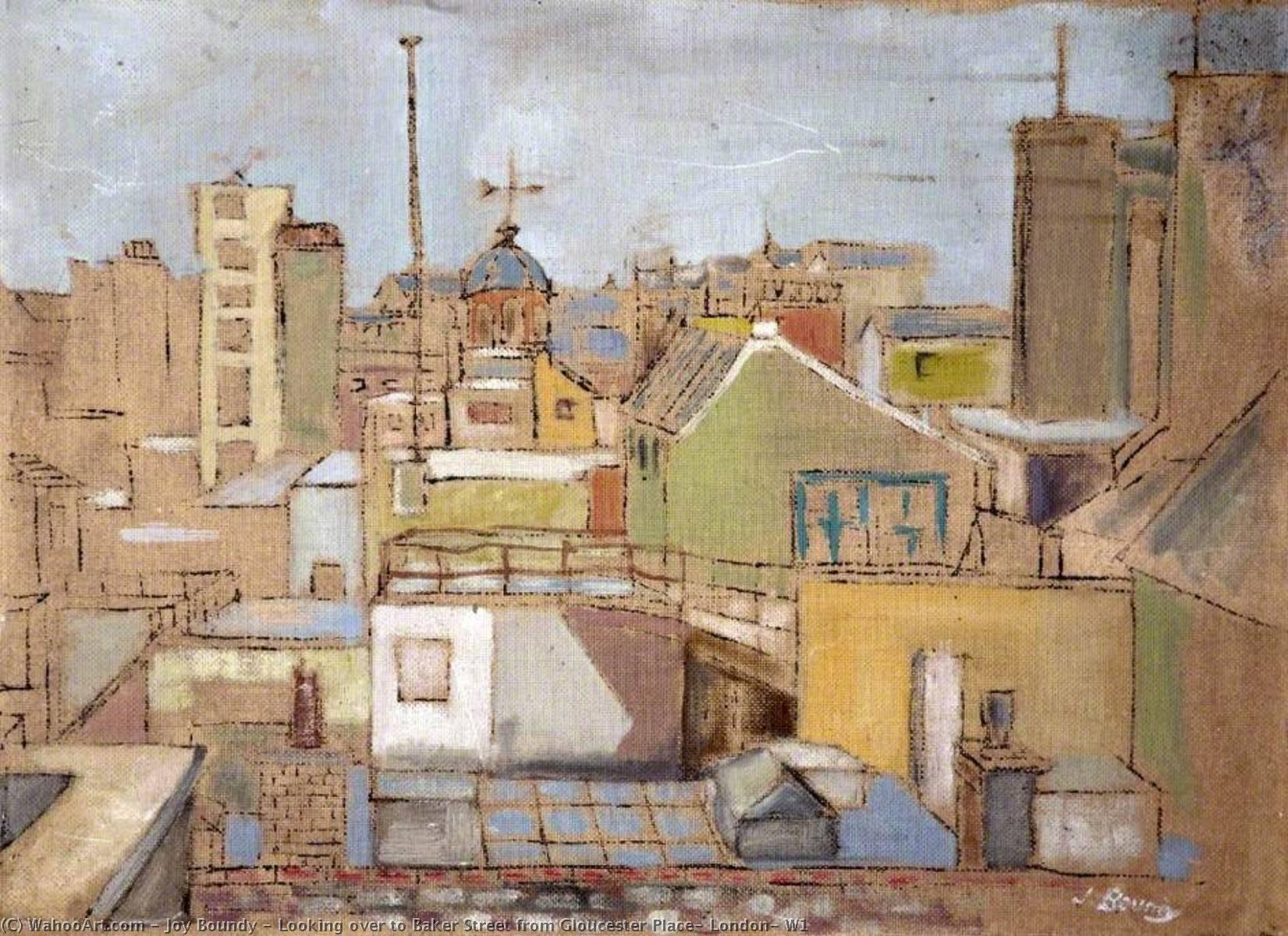 Looking over to Baker Street from Gloucester Place, London, W1, Oil On Canvas by Joy Boundy