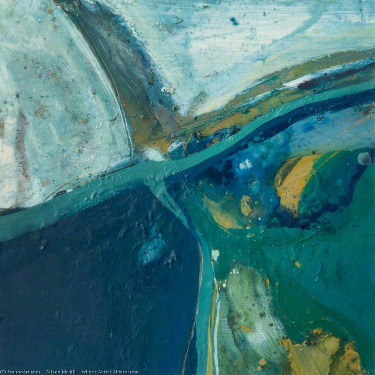 Winter Aerial Abstraction, 2000 by Alison Mcgill |  | WahooArt.com