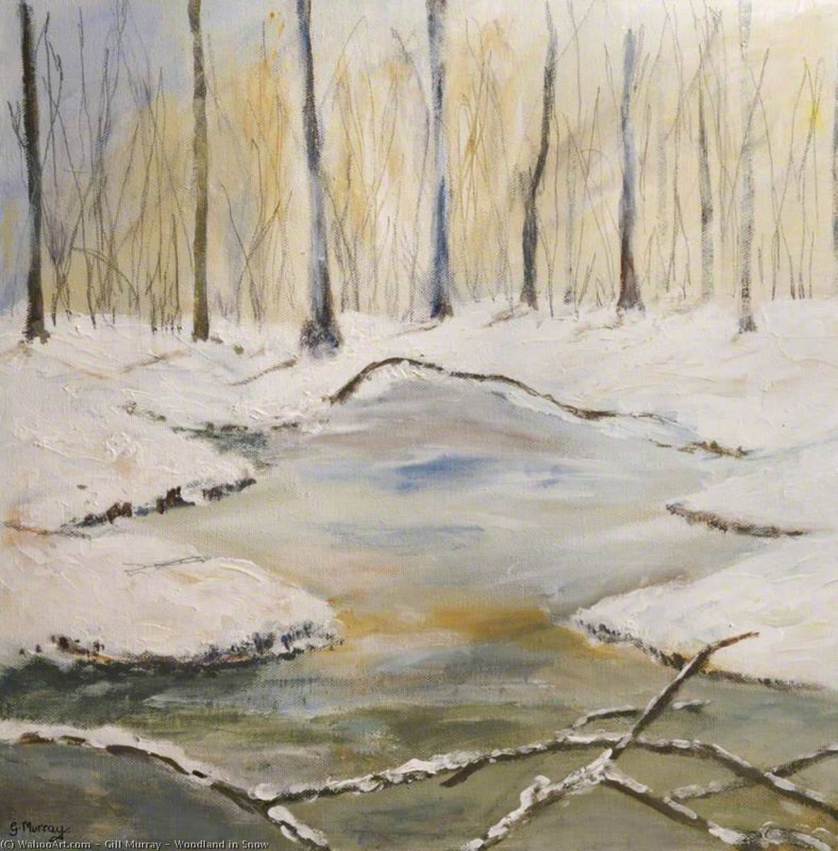 Woodland in Snow, 2008 by Gill Murray | Reproductions Gill Murray | WahooArt.com