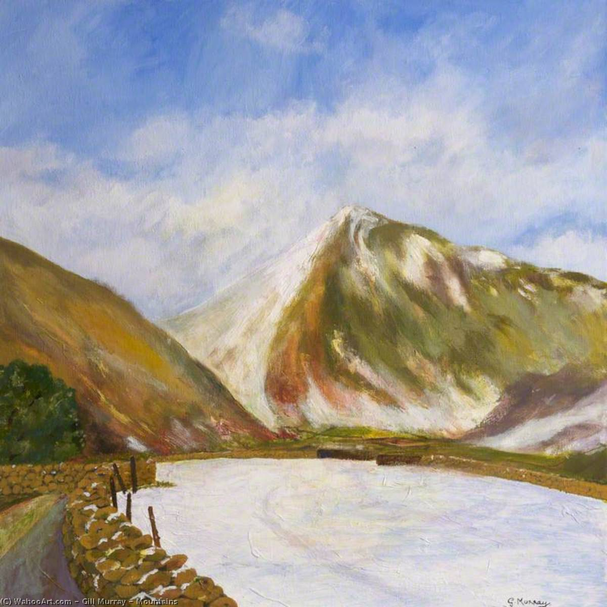 Order Paintings Reproductions | Mountains, 2011 by Gill Murray | WahooArt.com