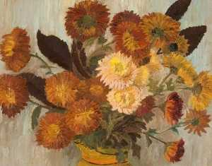 Alice Stainton - Chrysanthemums in a Jug