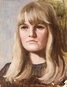 Clare Exodie Fadelle - Portrait of a Young Woman with Blonde Hair