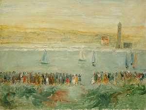 Lionel F Tebbutt - Yacht Race at Rye Harbour, East Sussex