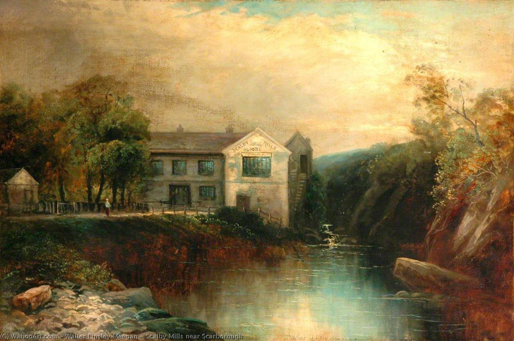 Scalby Mills near Scarborough by Walter Linsley Meegan | Famous Paintings Reproductions | WahooArt.com