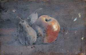 Simon Yorke Iv - Still Life of an Apple and a Pear (from a portfolio of oil sketches)