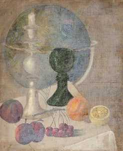 Simon Yorke Iv - Still Life of Fruit with a Globe