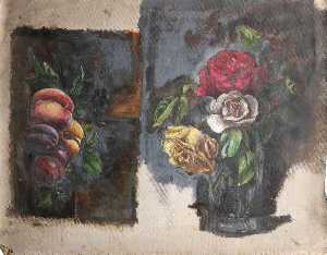 Simon Yorke Iv - Studies of Peaches and Plums, and a Still Life of Roses in a Vase