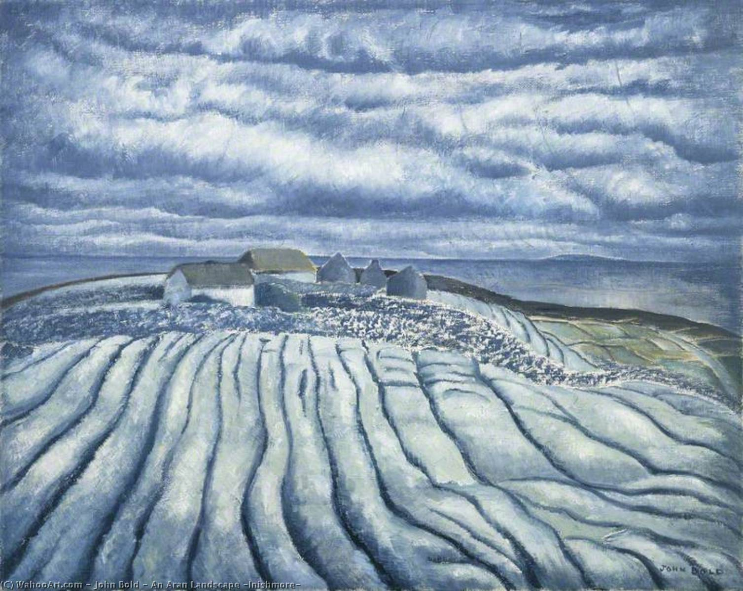 An Aran Landscape (Inishmore), Oil On Canvas by John Bold