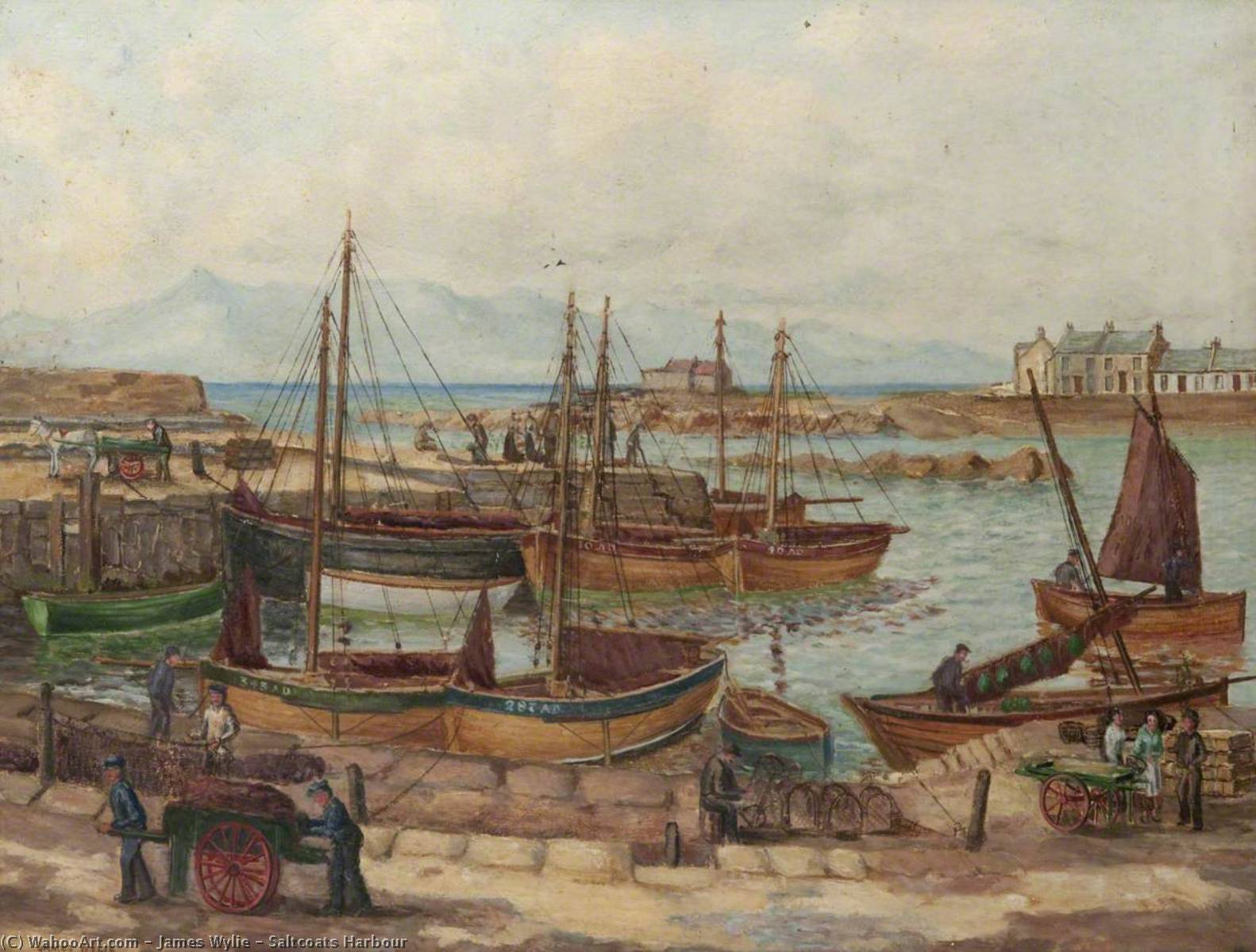 Order Paintings Reproductions | Saltcoats Harbour by James Wylie | WahooArt.com