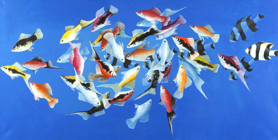 Tropical Fish 3 by Celia Wilkinson | Famous Paintings Reproductions | WahooArt.com