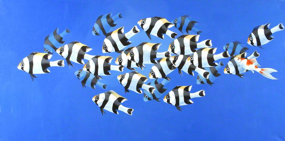 Tropical Fish 2, Oil On Canvas by Celia Wilkinson