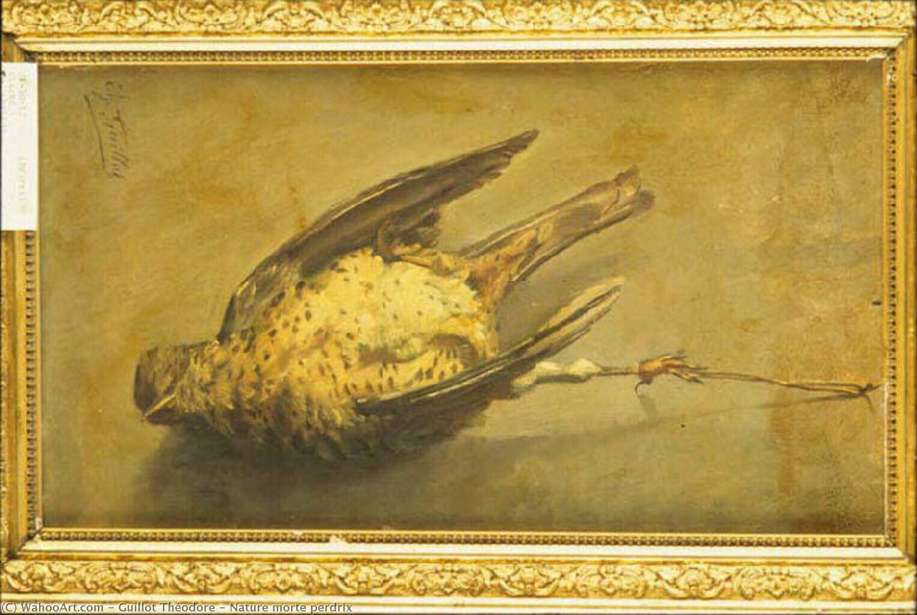 Nature morte perdrix, Oil by Guillot Théodore