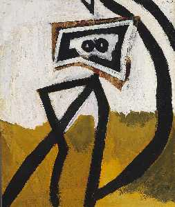 Robert Motherwell - Figure in Black (Girl with Stripes)