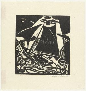 Sailboat, 1915 by William Zorach (1887-1966, Russia) | Painting Copy | WahooArt.com