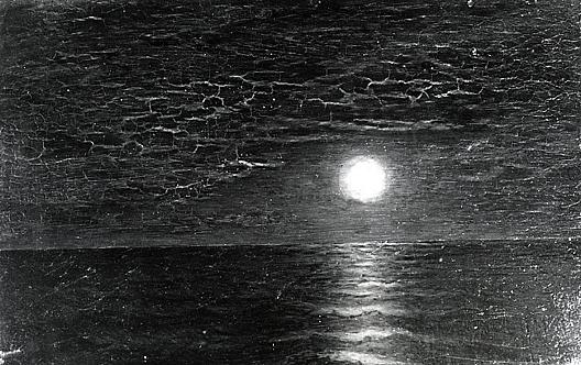 Moonrise on the Caribbean, (painting) by Ralph Albert Blakelock (1847-1919, United States) | Reproductions Ralph Albert Blakelock | WahooArt.com