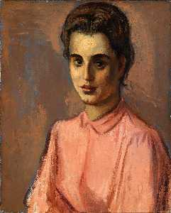 Moses Soyer - Woman in Pink Blouse
