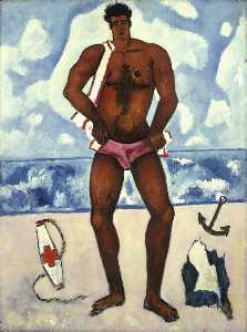 Marsden Hartley - Canuck Yankee Lumberjack at Old Orchard Beach, Maine