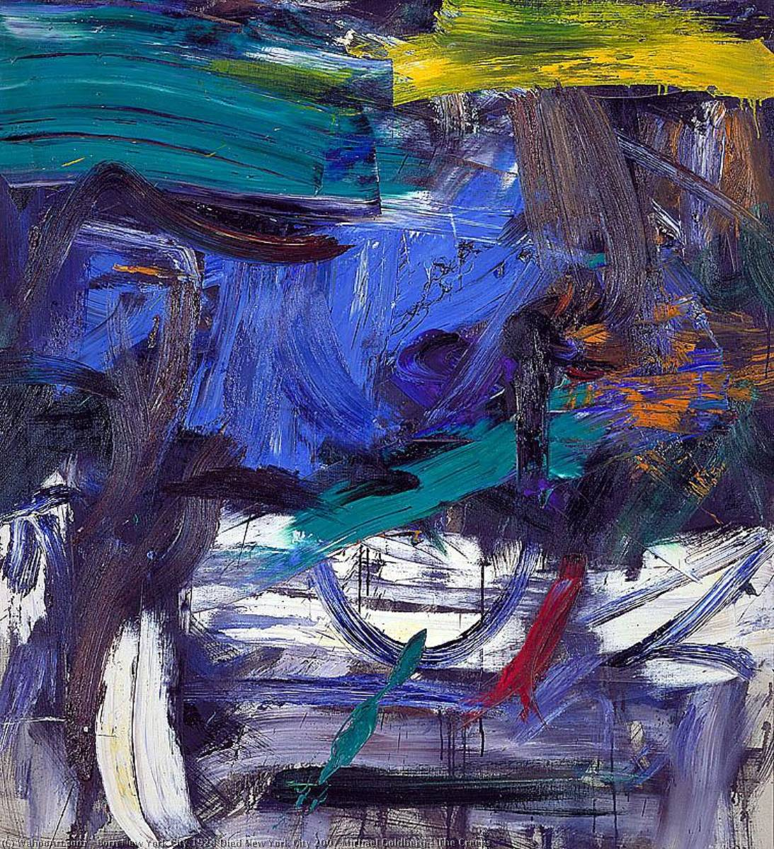 The Creeks, 1959 by Michael Goldberg (1924-2007, United States) | WahooArt.com