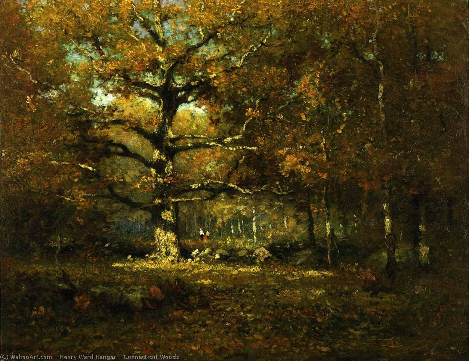 Connecticut Woods, 1899 by Henry Ward Ranger | Oil Painting | WahooArt.com