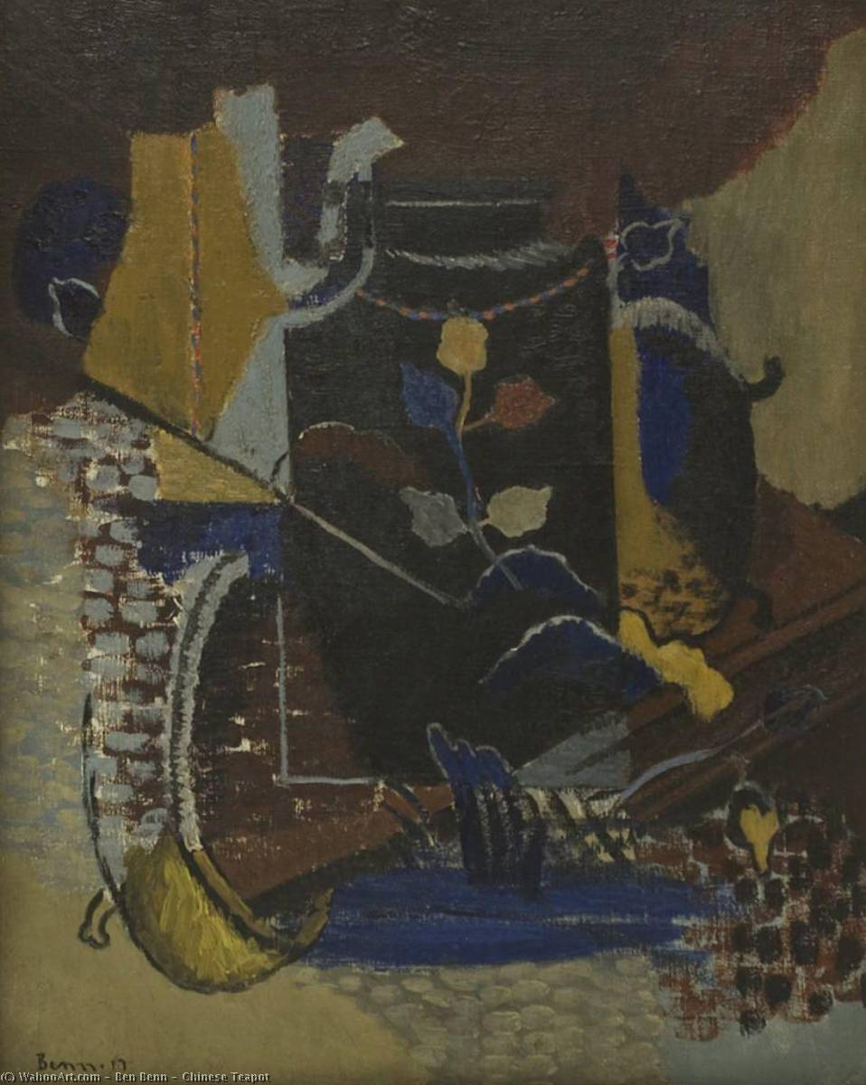 Chinese Teapot, Oil On Canvas by Ben Benn (1905-1989)