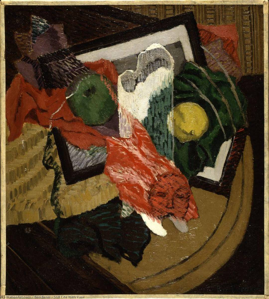 Still Life With Vase, Oil On Canvas by Ben Benn (1905-1989)
