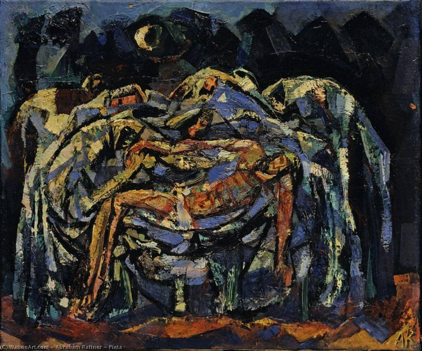 Pieta, 1949 by Abraham Rattner (1895-1978, United States) | Art Reproduction | WahooArt.com