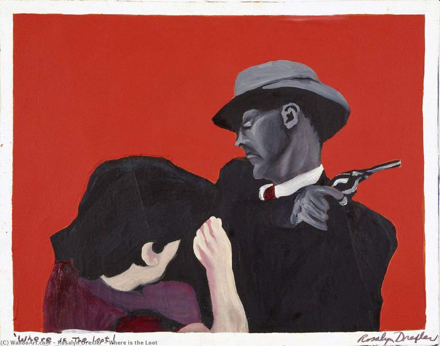 Where is the Loot, Oil On Canvas by Rosalyn Drexler