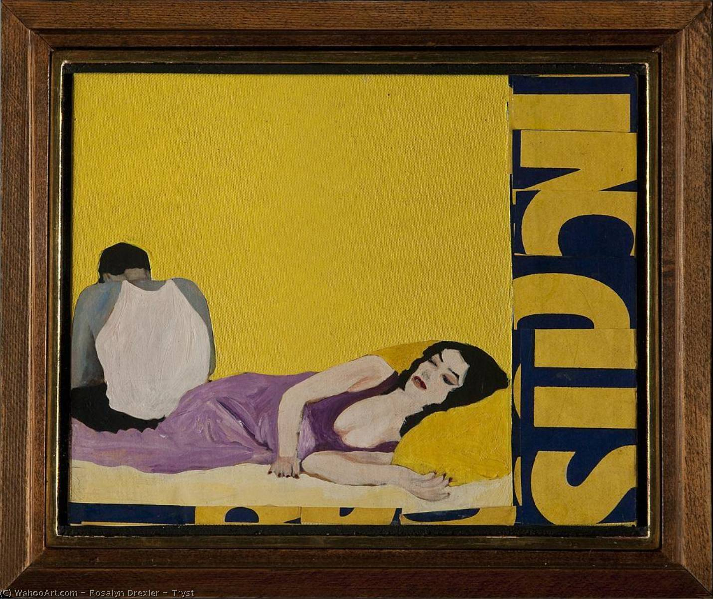 Tryst, Collage by Rosalyn Drexler