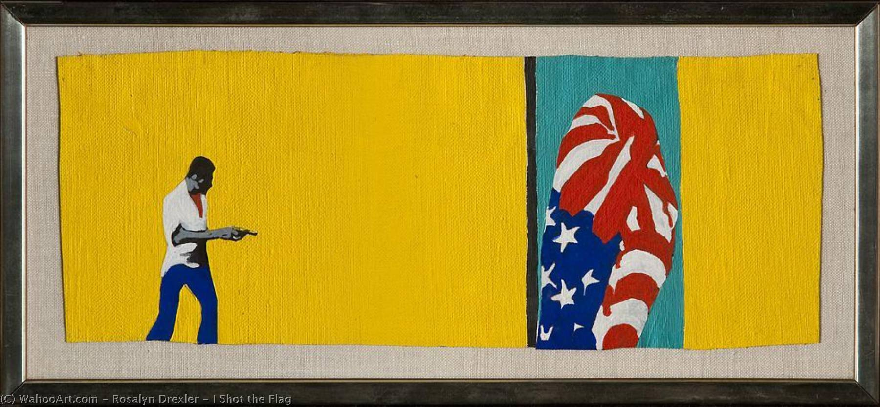 I Shot the Flag, Oil On Canvas by Rosalyn Drexler