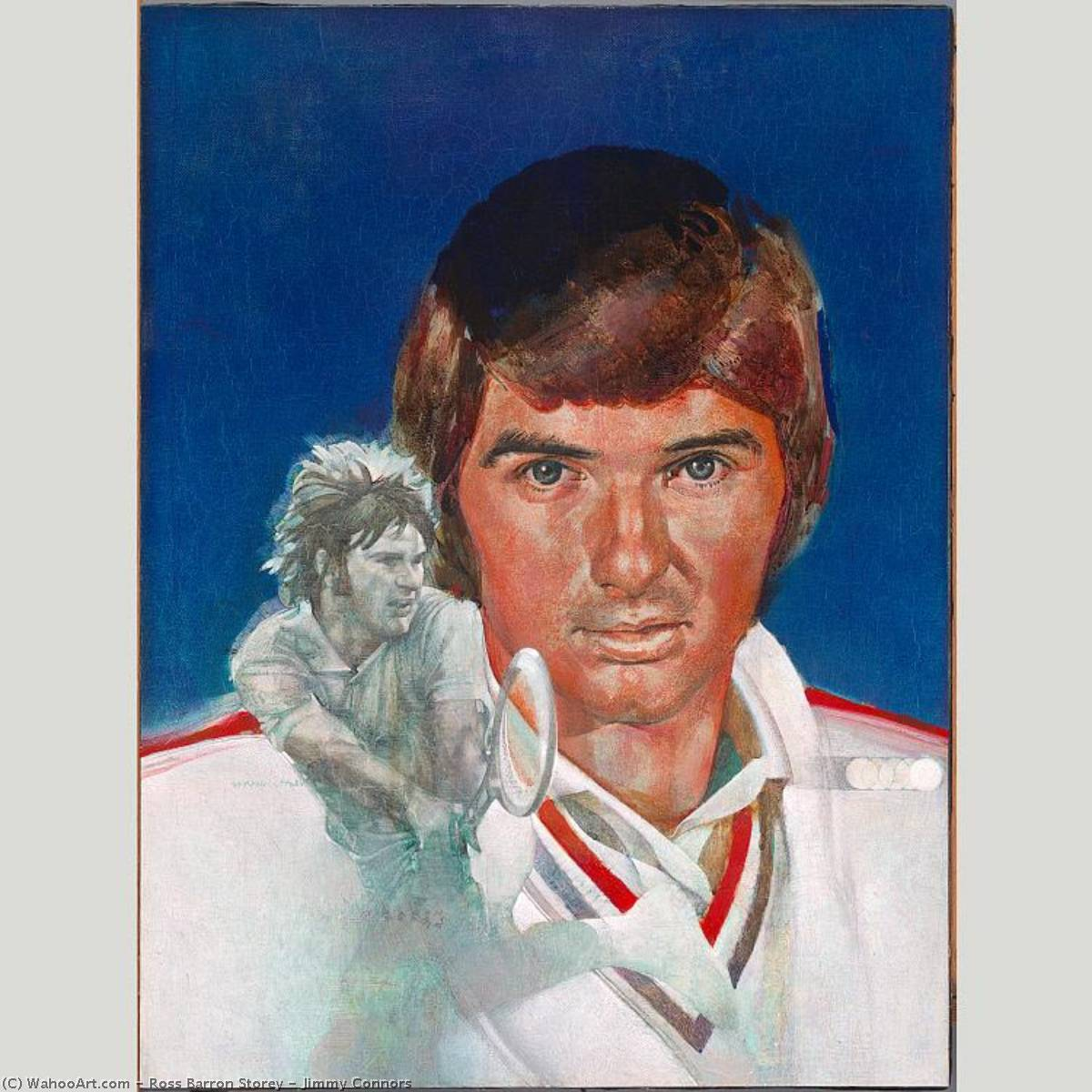Jimmy Connors, Acrylic by Ross Barron Storey