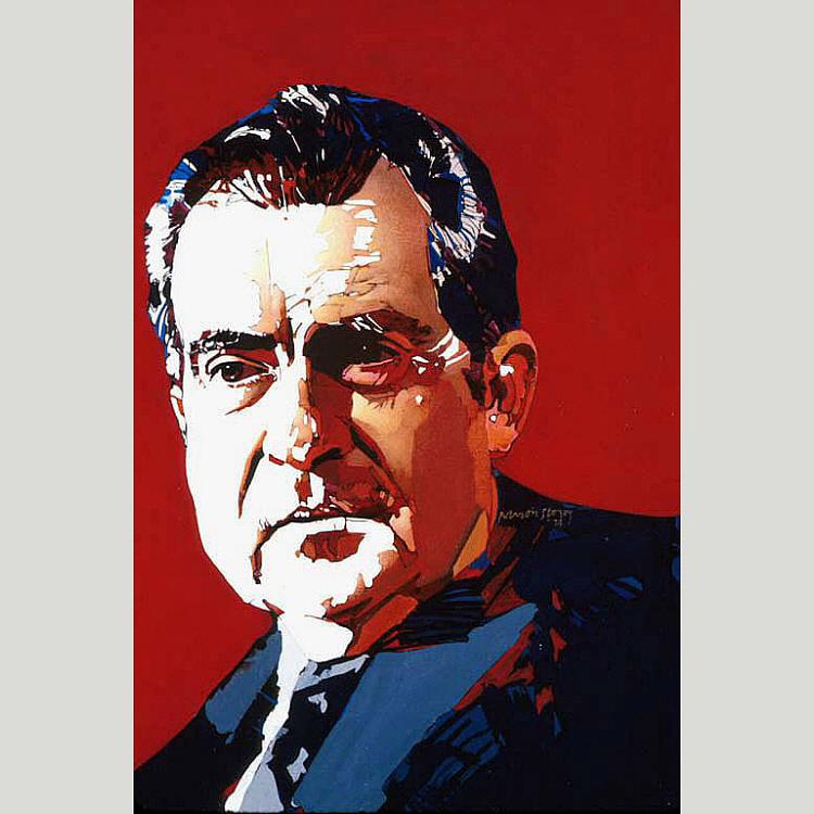 Richard Nixon, Oil by Ross Barron Storey